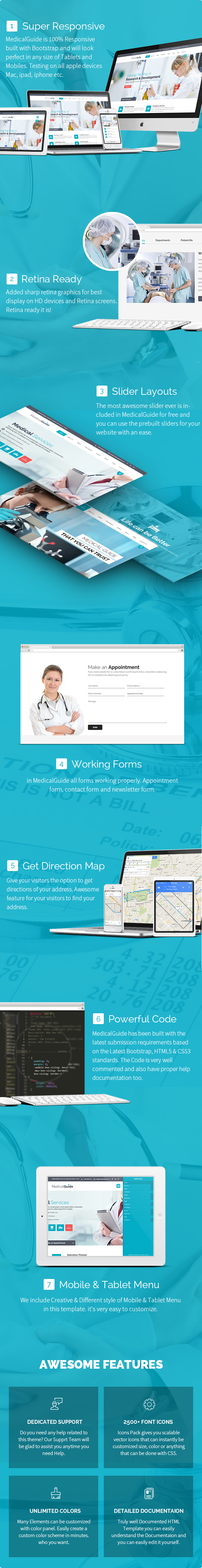 MedicalGuide - Health and Medical HTML Template